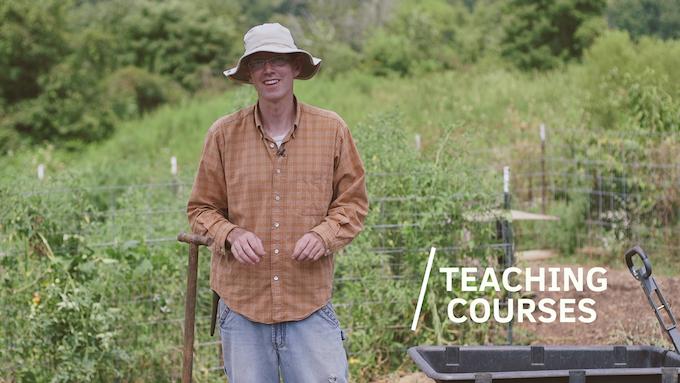 John Moody teaching about soil stewardship.