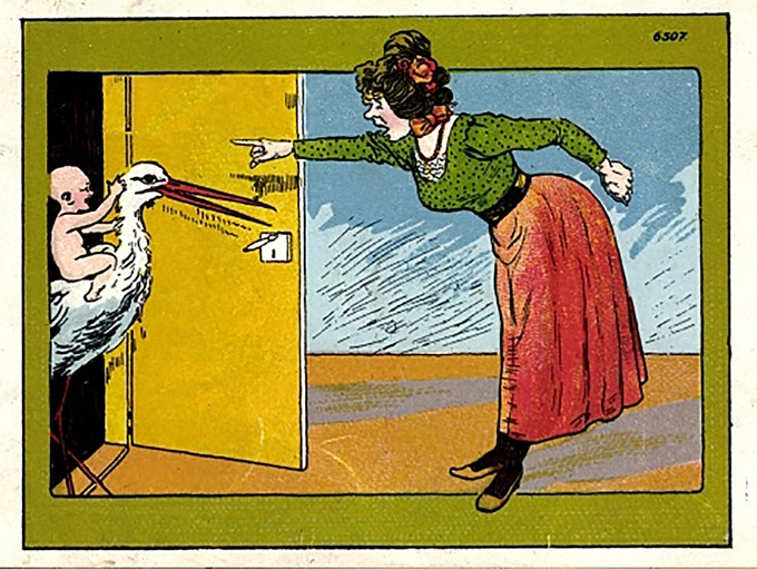 That feeling when...you want to tell the Stork to take a hike.