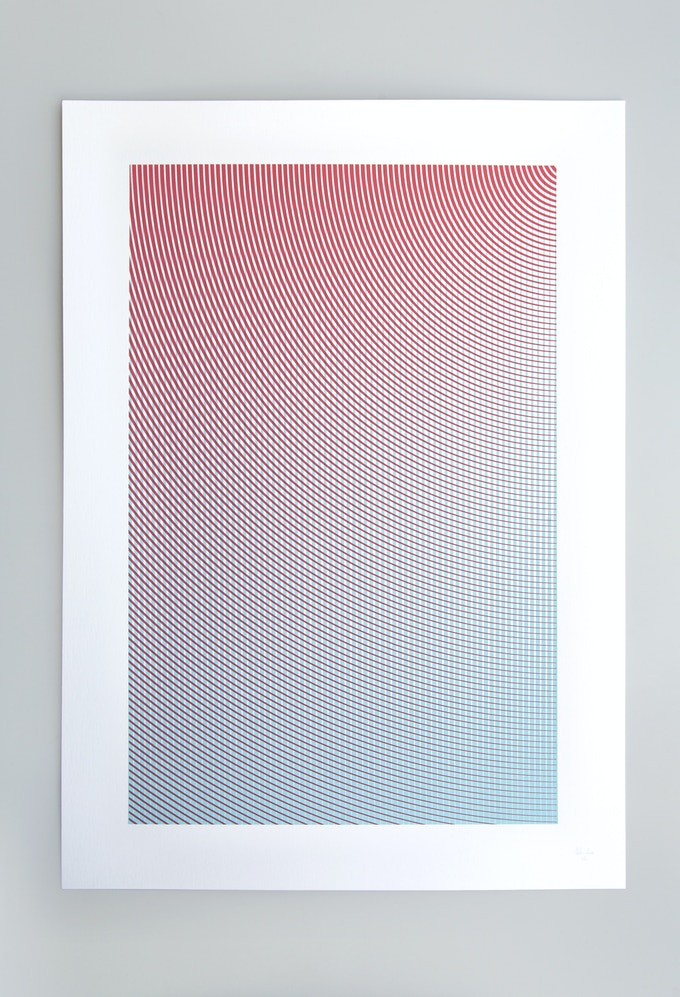 Density Ripple Screen Prints designed by Atelier Mats and Studio Anne Ligtenberg