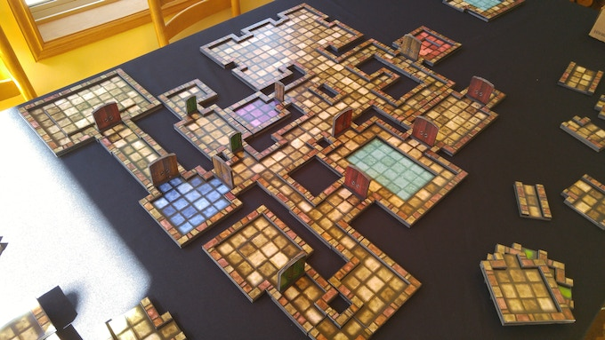 Large 2.5D dungeon.