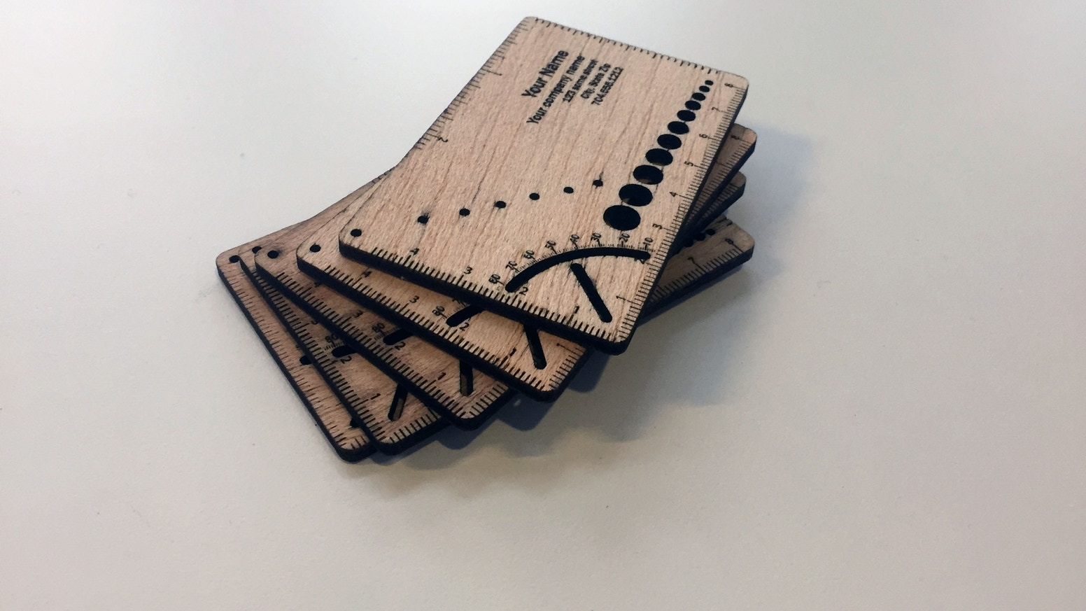 In Gear card - multi-functional wooden Business card by RAN BAI ...