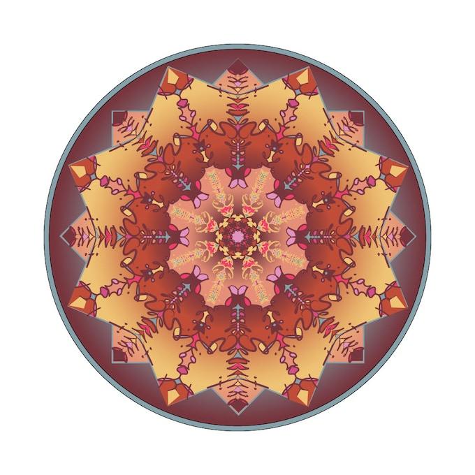 Mandala Iron-on Patch