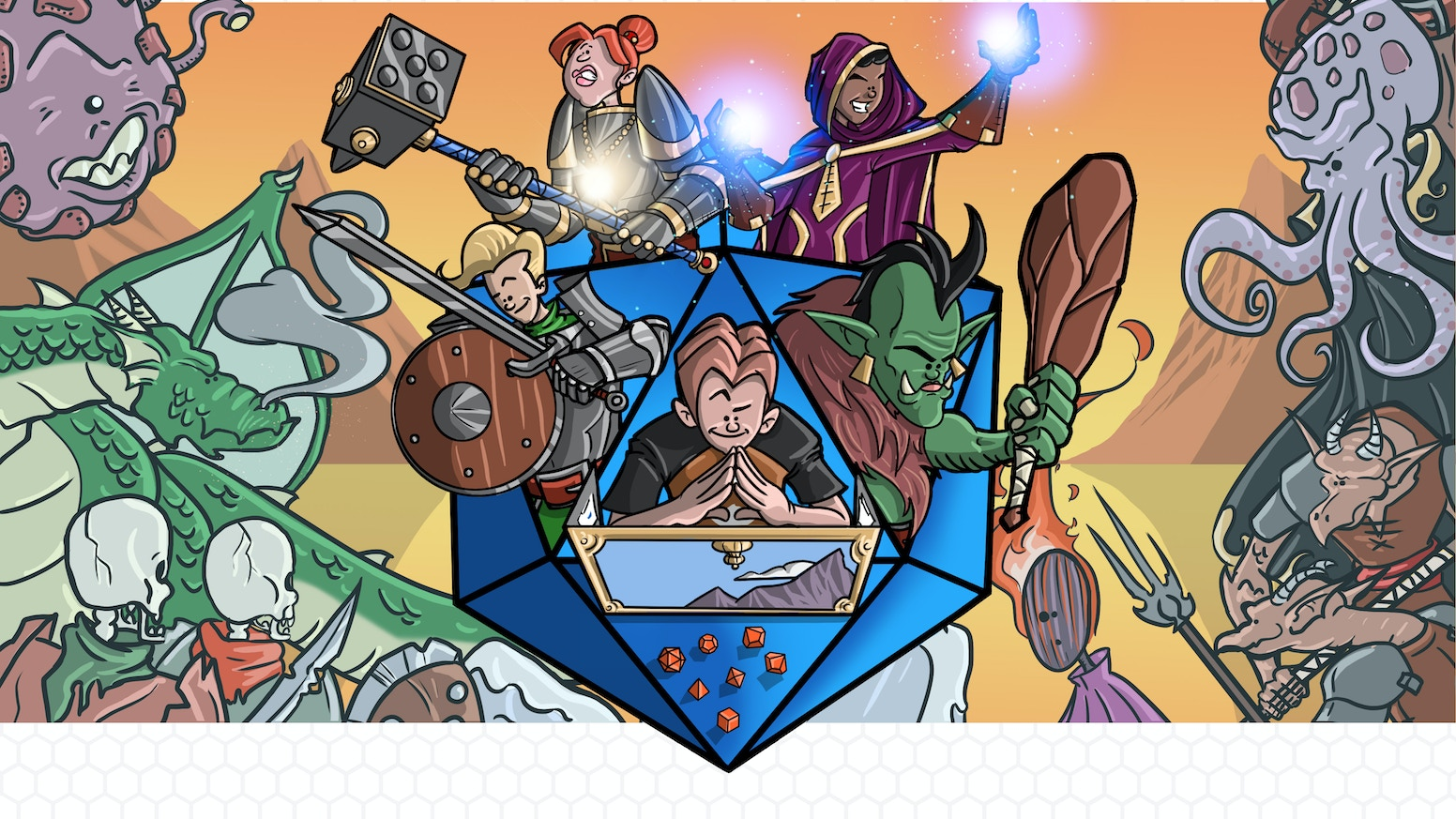 A children's book that introduces kids to the endless possibilities in the world of table top role playing games.