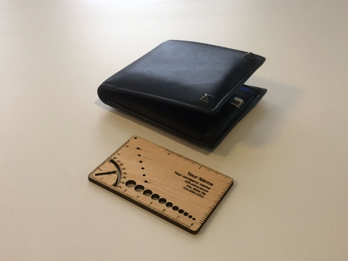 In gear card multi functional wooden business card by ran bai isnt it great if your consumer remembers your name while using the card our multi functional wooden business card contains ruler in inches and millimeters colourmoves