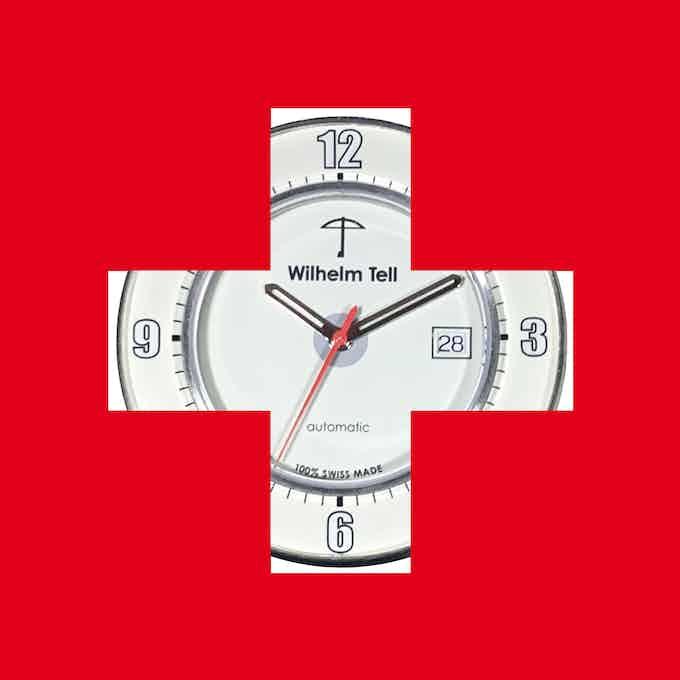 Derrière le drapeau suisse / Behind the Swiss flag