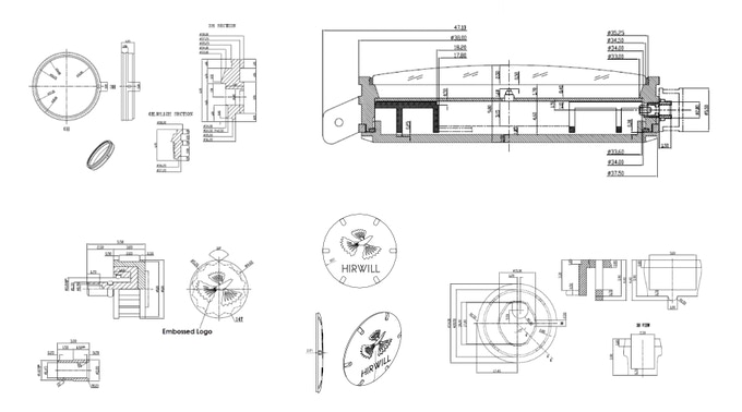 Drawings that were used during the prototype phase
