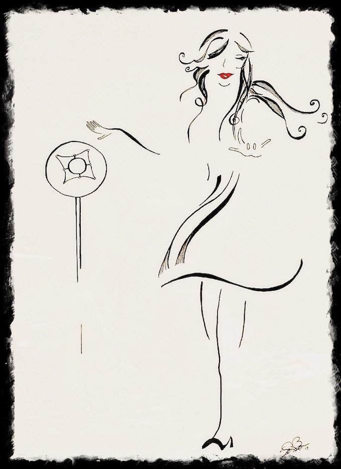 """Sway With Me"" by Sandi Bonn (portrait of Halie Loren) - now available as a Kickstarter reward!"