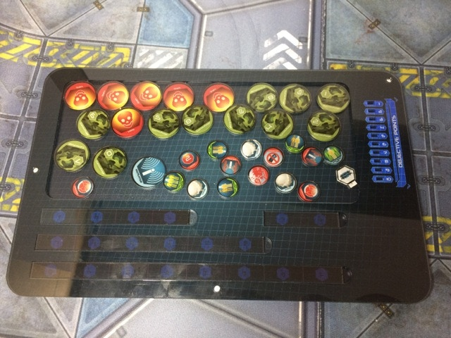 Support Deck filled with Tokens and Marker (not included)