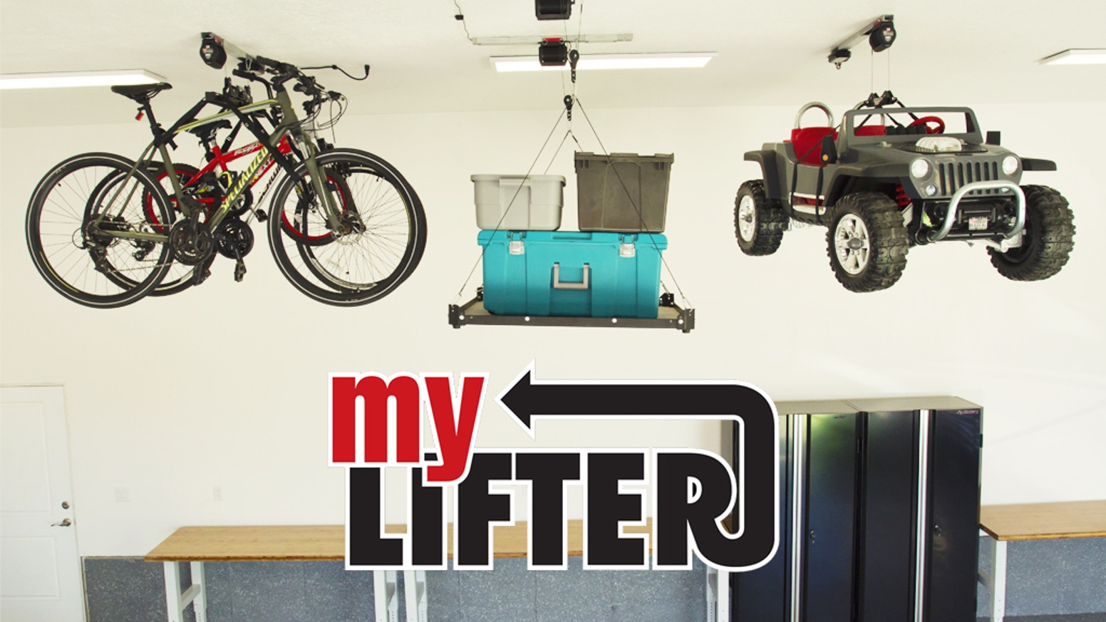 The world's smartest, easiest, and best looking garage storage system.