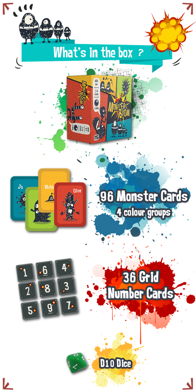 monsters boom card game by moonmares games kickstarter