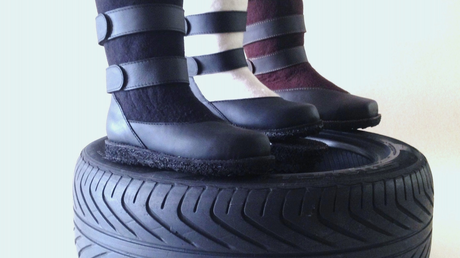 Most comfortable,most sustainable and warmest winter boots. Each pair means one less tire on the lonely road to the landfill!
