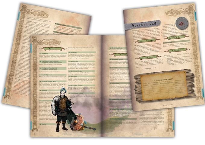 Et overblik over nogen af bogens sider, som de ser ud på nuværende tidspunkt.