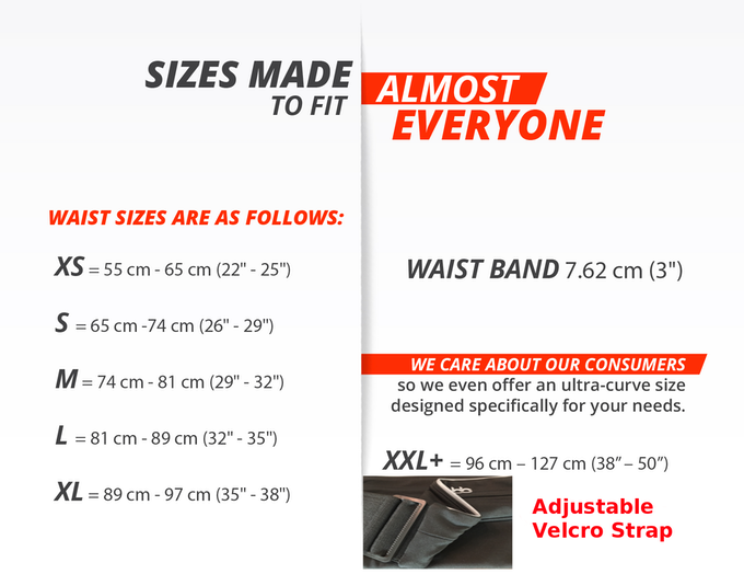 BASEbelt has sizes to fit almost everyone