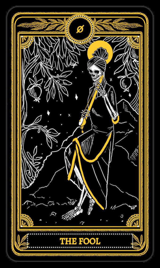 The Fool from the Major Arcana of the Marigold Tarot