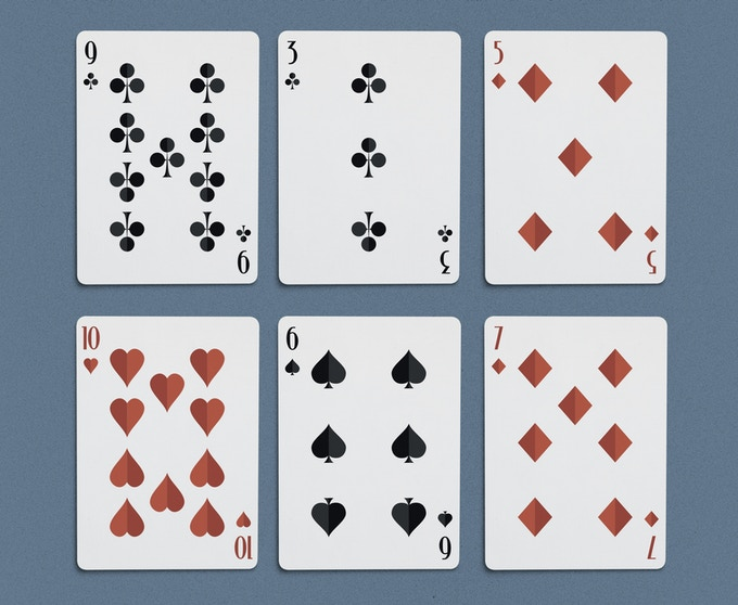 A selection of the number cards