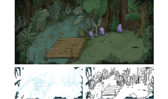 The Tersian Forest area 2 - process
