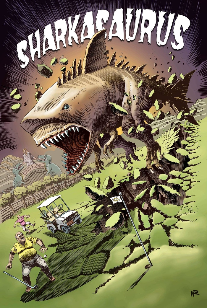 Tremors meets Jaws: A bloody ridiculous graphic novel full of brutal killings, Shakespearian love and golf courses.