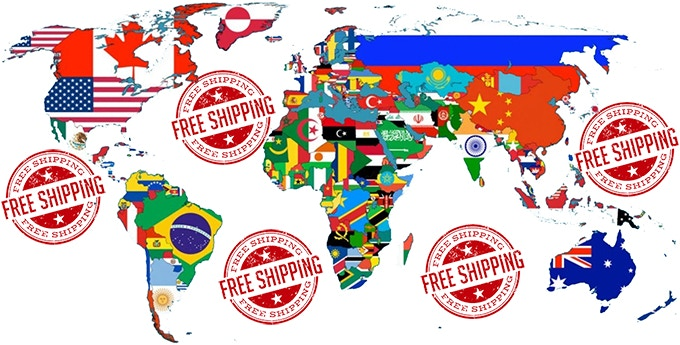 FREE shipping all around the world !