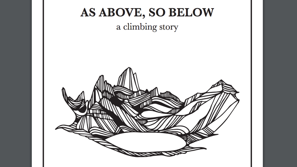 As Above So Below: A Climbing Story project video thumbnail
