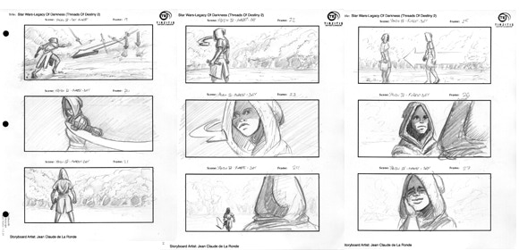 Early storyboards