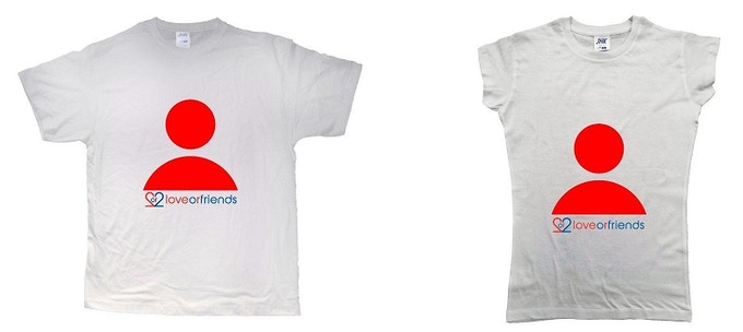 """LOVE OR FRIENDS"" INVITE TSHIRT - MAN & WOMAN"