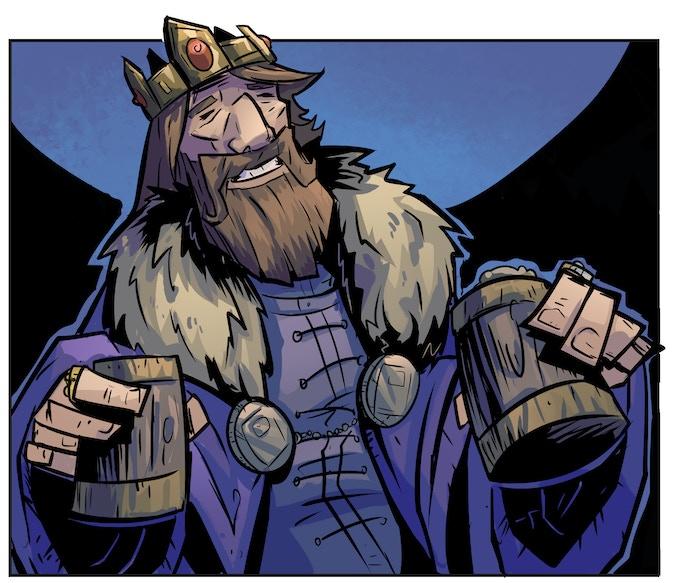 King Odgeir, the man who betrays Akta.