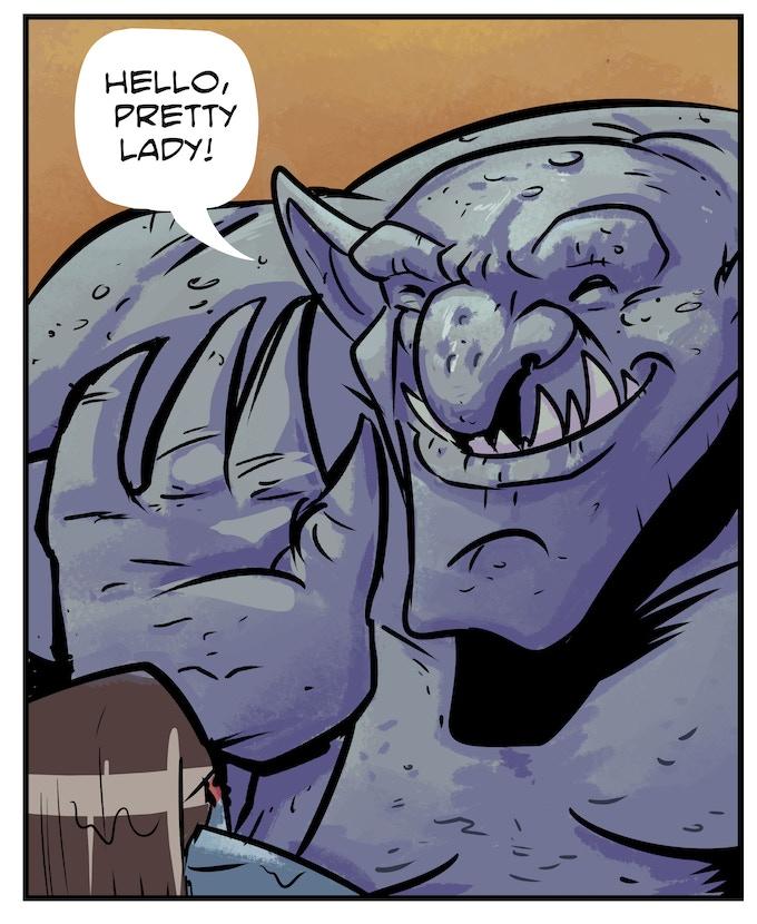 A helpful troll Akta befriends on her journey.