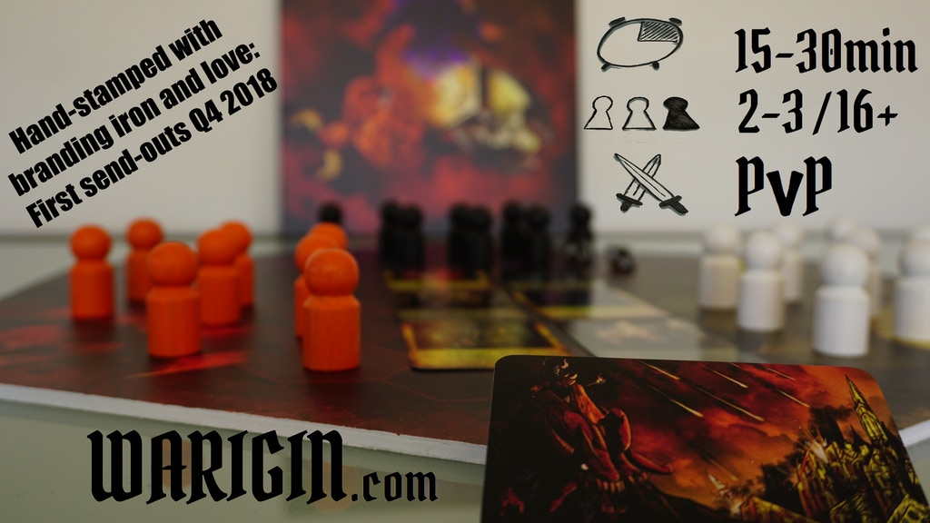 WARIGIN - A rapid PVP focussed board game for 2-3 tacticians project video thumbnail