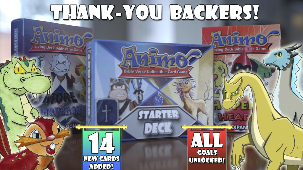 Animo: A Living Deck Bible Verse Card Game project video thumbnail