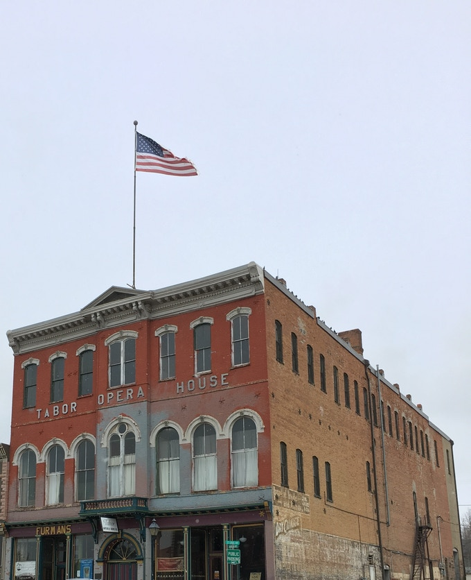 Leadville's Historic Tabor Opera House, on Colorado's Endangered Places list, is a designated National Historic Treasure.