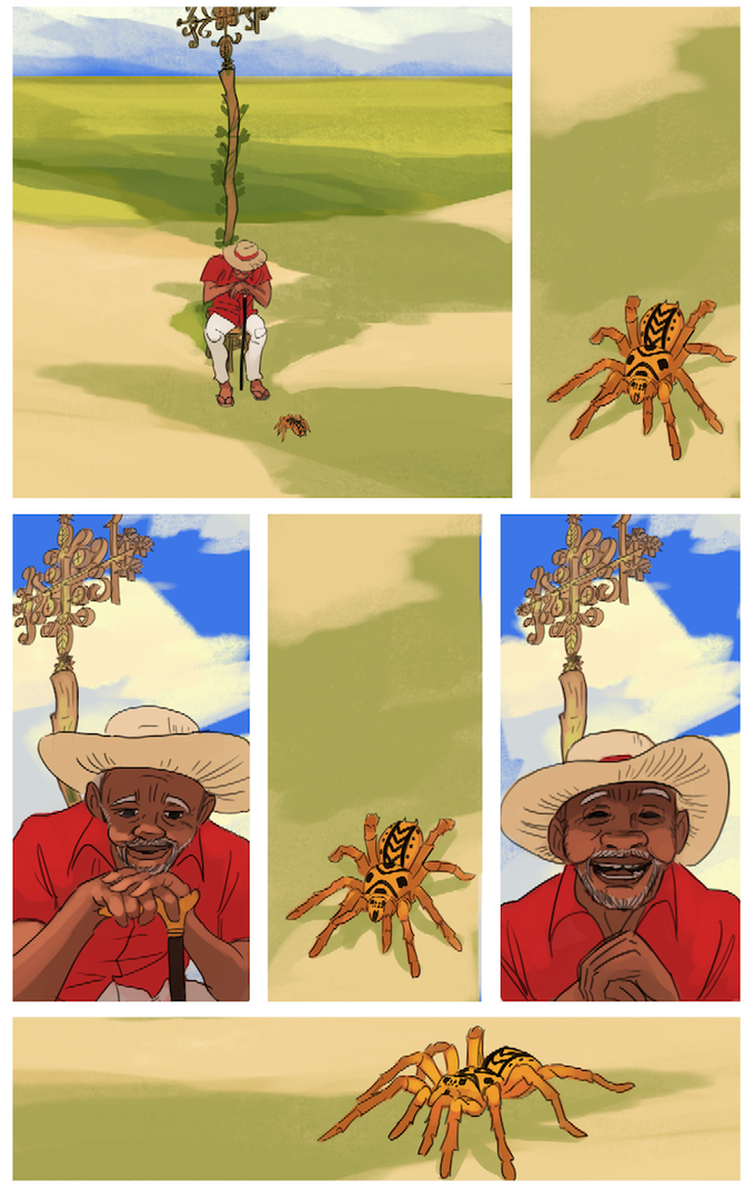 Anansi the Spider and Papa Legba of Haitian Stories