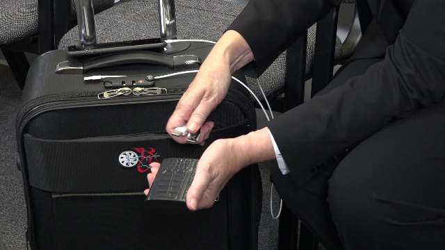 Rolling Charger Carry On Suitcase By Darrick Floyd