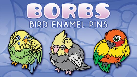 Borbs: Cute Bird Enamel Pins
