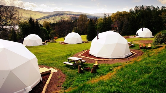 Geodesic Glamping Eco-Village (tourism project in Abruzzo)
