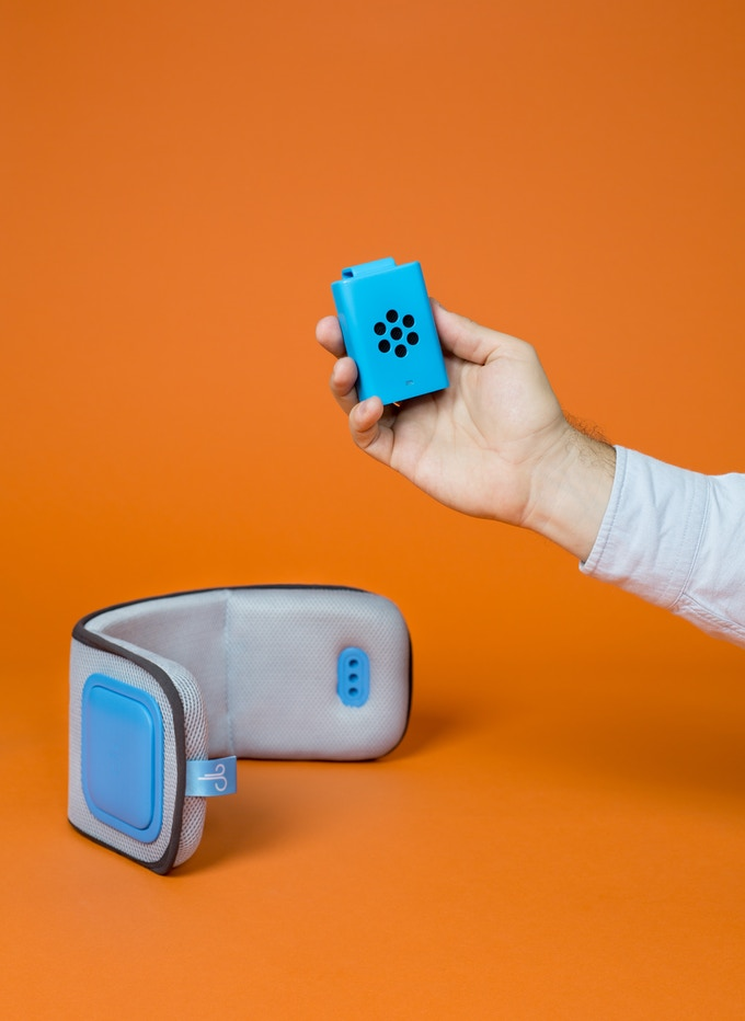 Visual Prototype: Brizi Sensor is designed to fit comfortably into your hand.