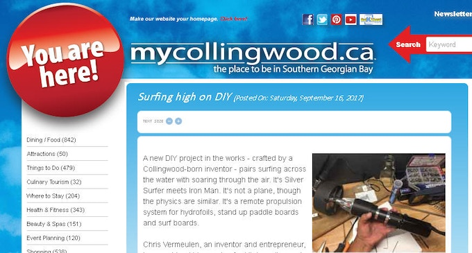MyCollingwood.ca DIY Electric Hydrofoil Developement