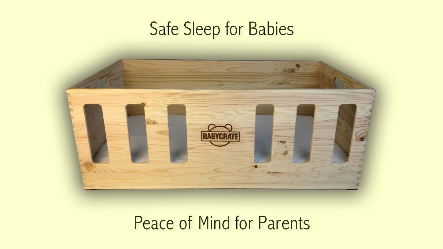 The BabyCrate is a newborn baby safe sleep bed with a focus on safety, practicality and natural materials.
