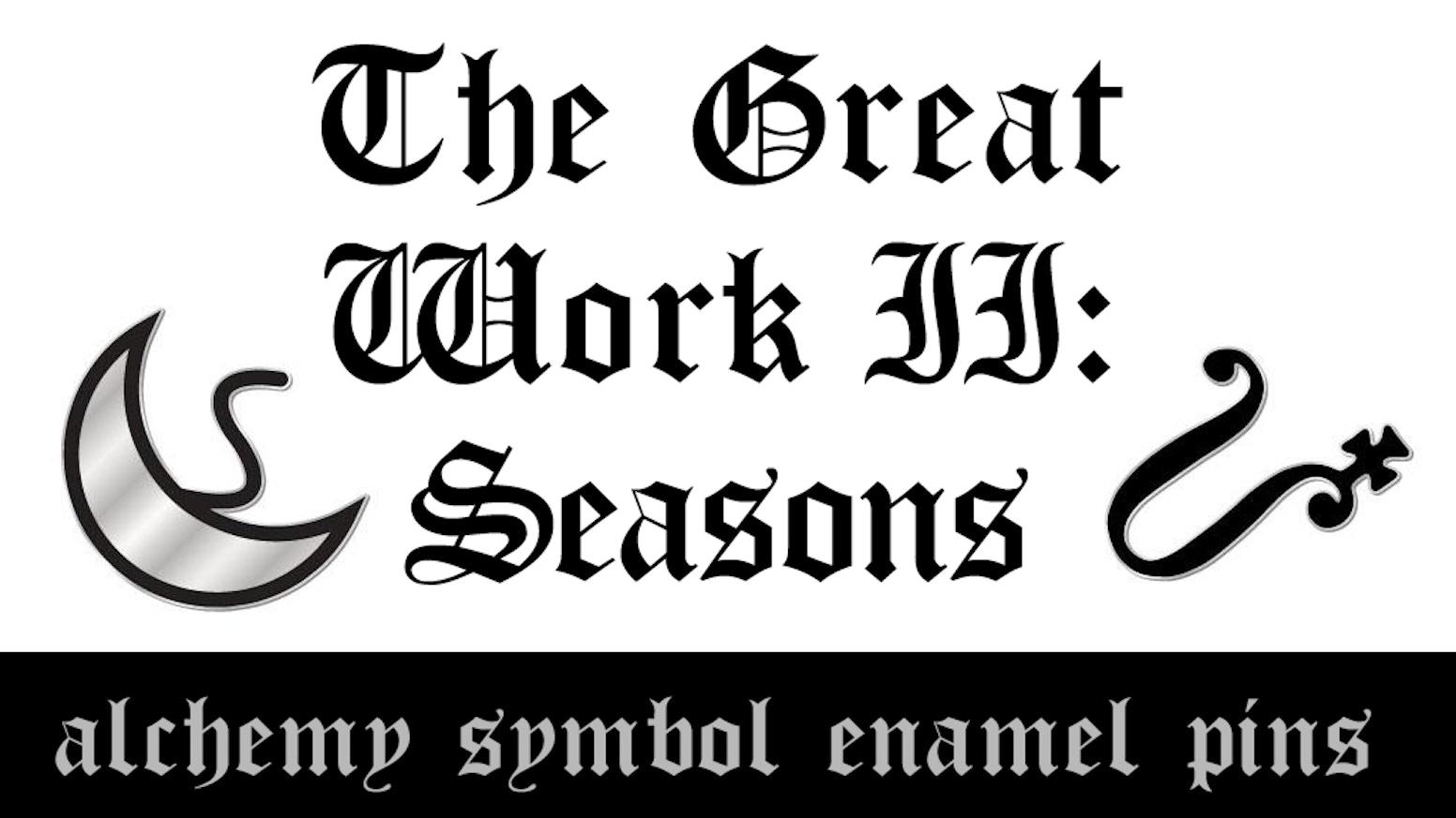 The Great Work Ii Seasons Alchemy Symbol Enamel Pins By Simon