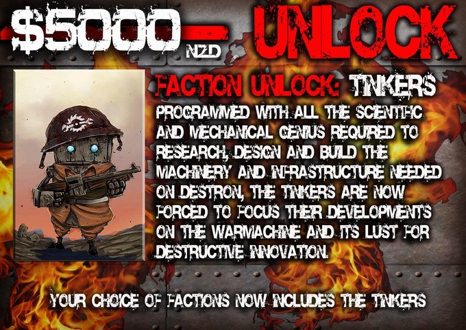 $5000 funded unlocks our third faction: the Tinkers!