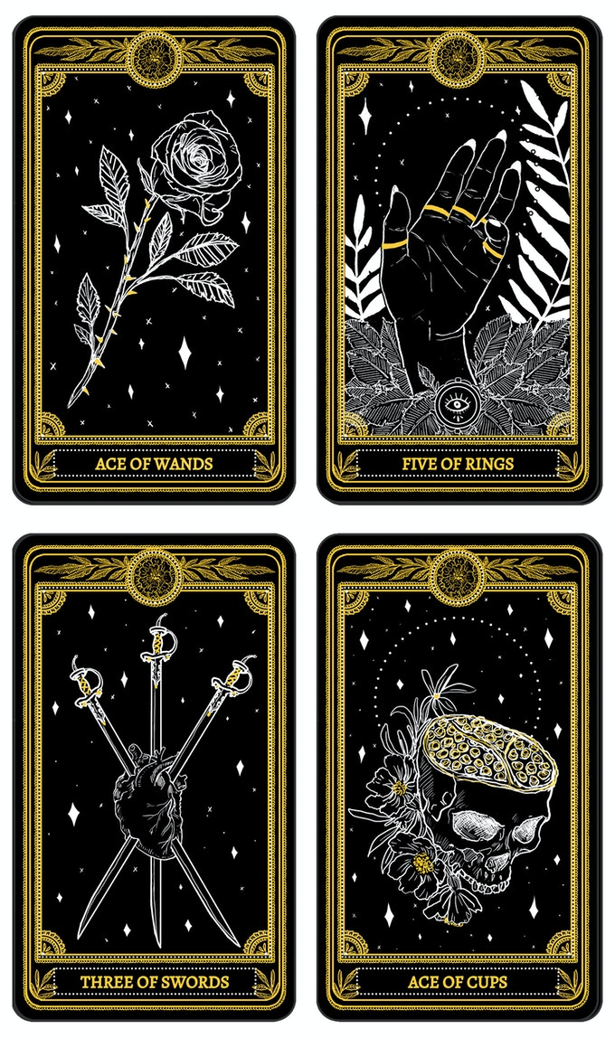 Minor Arcana Suits - Wands, Rings, Swords, Cups