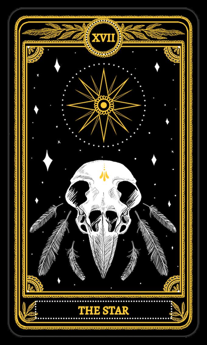 The Star from the Major Arcana of the Marigold Tarot