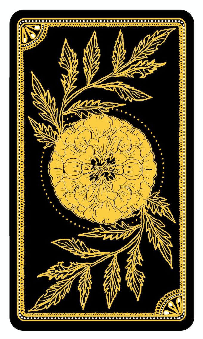 The Marigold Tarot By Amrit Brar Kickstarter - Tarot card template
