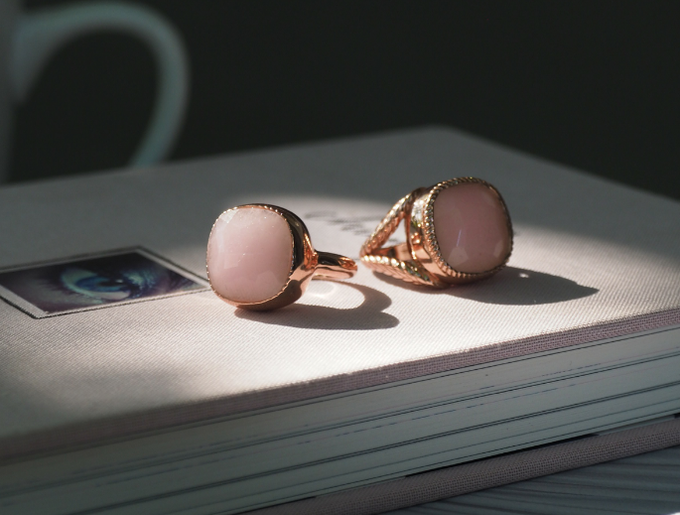 The one of a kind ring to the right is made of solid gold and just might be the most expensive wearable ever made.