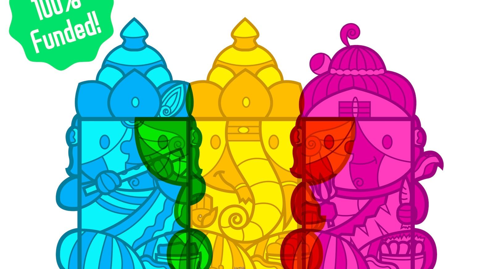 Celebrating the Indian festival of Golu with papercraft box dolls from Indian Mythology!