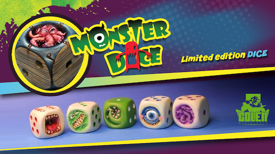 Painted MonsterDice in limited Edition