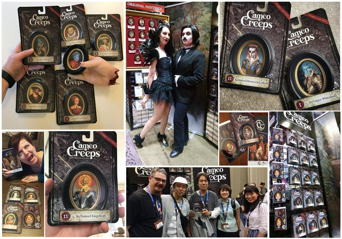 Pic sent to me from backers of the last campaign and new fans discovering the Cameo Creeps at conventions.