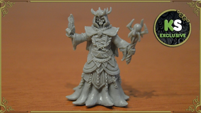 The Lich figurine sculpted by Ivan, from Windmaster Miniatures