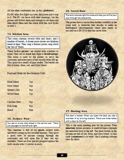 Interior page from Volume One module