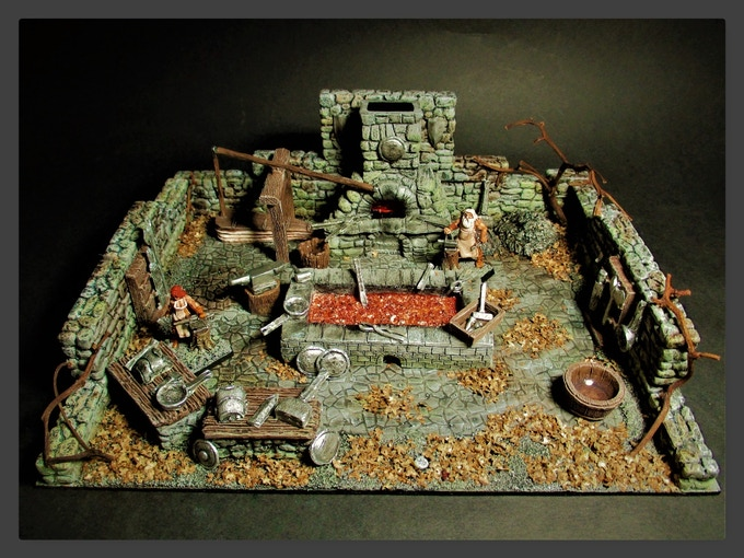 Forge Diorama constructed and painted by Michael Mordor (@Goblins_Mordor)
