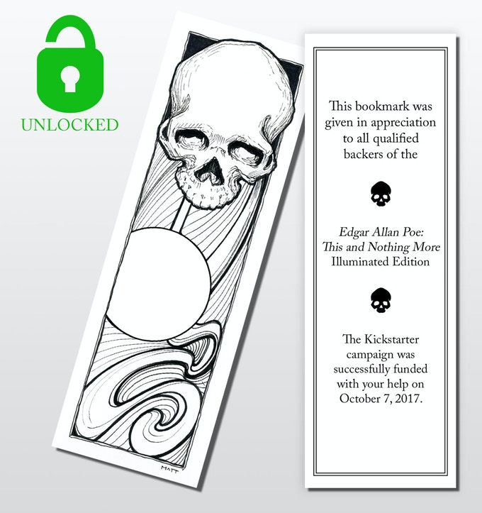 $15K Stretch Goal - Every qualified backer gets a free bookmark.